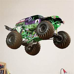 16 best images about redecorating ideas for nick on With awesome monster truck wall decals ideas