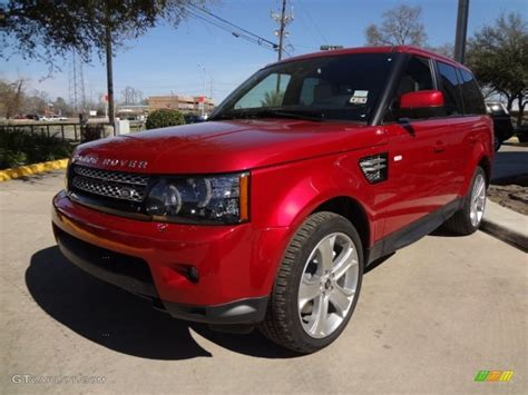 red land rover firenze red metallic 2013 land rover range rover sport hse
