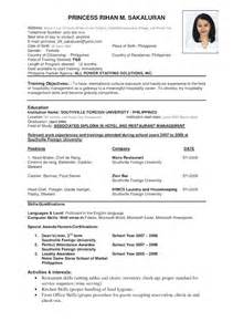 a resume format for students sle resume format for students sle resumes