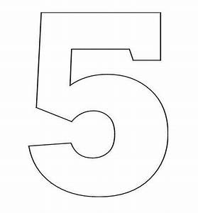 Coloring Pages Stencil of Number 5 | Coloring