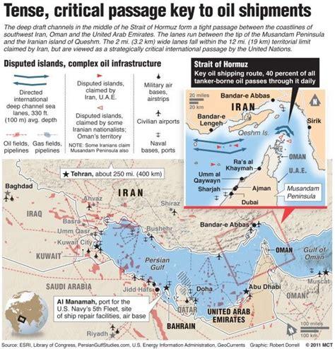 detailed map   strait  hormuz highlighting