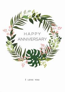 Christmas Card Outline Quire Publishing Leaves Wreath Anniversary Card Qbb0425