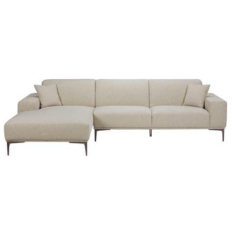 canapé tissu gris chiné canapé d 39 angle gauche 5 places en tissu gris clair chiné