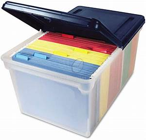 avt55797 plastic storage bins with lids ontimesupplies With plastic document storage containers