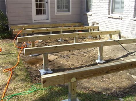 Floating Deck Without Footings by Oz Post Deck Foundation System Gallery