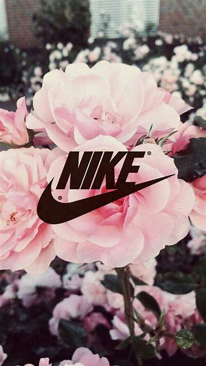 Nike Pink Fond Fleuri Cran Wallpapertag Vertical