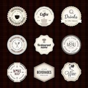 coffee label free vector graphic download With coffee label design template