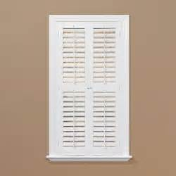 homebasics plantation faux wood white interior shutter price varies by size qspa3148 the