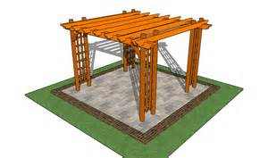 attached pergola plans howtospecialist how to build step by step diy plans