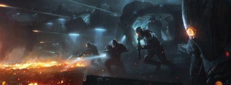Invasion Hd Wallpaper Background Image 3253x1200 Id
