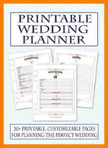 wedding planner and organizer 7 free printable wedding planner organizer hostess resume
