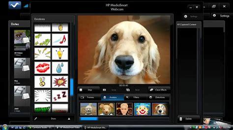 hp mediasmart webcam recording demo youtube
