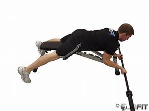Barbell Lying High Bench Biceps Curl