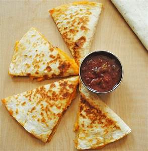 How to make Simple and Quick Cheese Quesadillas. Step by ...