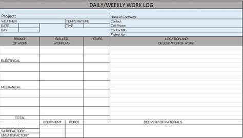 excel construction management templates project