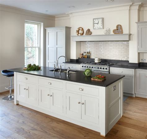kitchen island photos esher grey shaker kitchen transitional kitchen