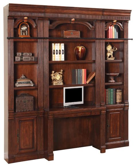 library wall units bookcase 4 piece wellington library bookcase wall unit mahogany