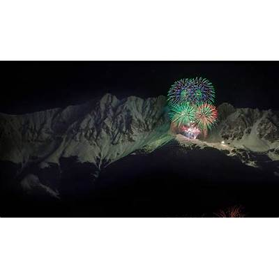 New Year's Eve fireworks in the Nordkette mountain range