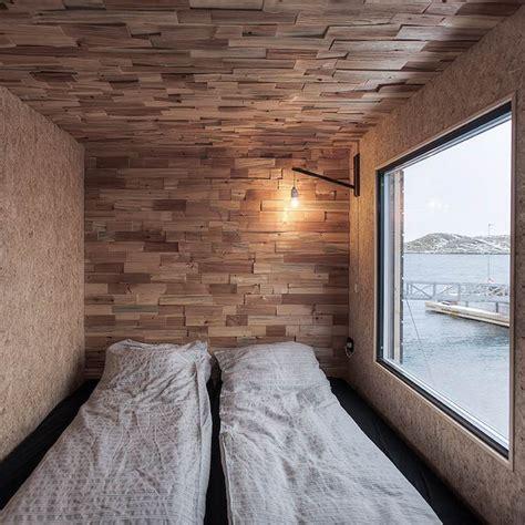 bardage bois chambre retraites d artistes en norvège habillées d un bardage en