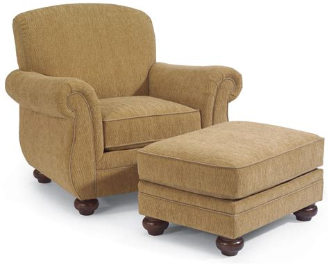 arm chair with ottoman flexsteel winston upholstered arm chair with ottoman