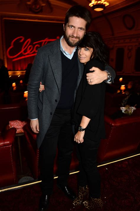 claudia winkleman cuddles   handsome husband  night