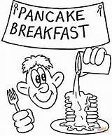 Pancake Coloring Breakfast Printable Drawing Supercoloring Face Categories sketch template