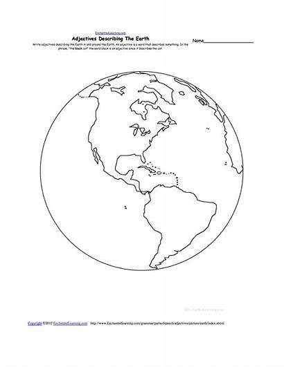 Earth Worksheets Preschool Grade Adjectives Recycle Describing