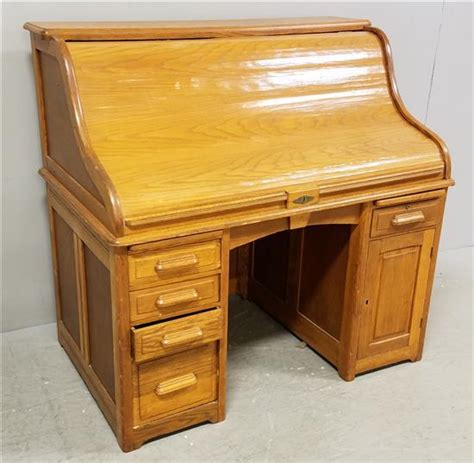 the city desk company quot tell city desk co quot oak 50 quot s roll top desk with pigeonhole