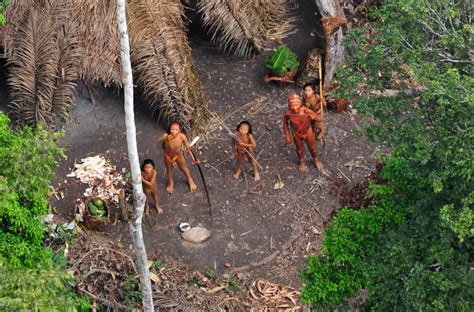 Uncontacted tribes in the rainforest