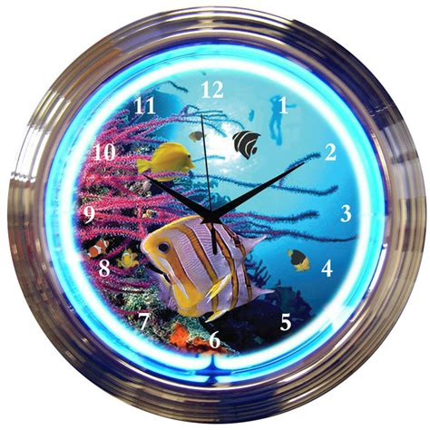 Neon Wall Clocks For Sale