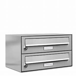 Briefkasten Mit Klingel Aufputz : 2er briefkasten schmal pulverbeschichtung ral 9007 mit 2 namensschilder 039 ebay ~ Sanjose-hotels-ca.com Haus und Dekorationen