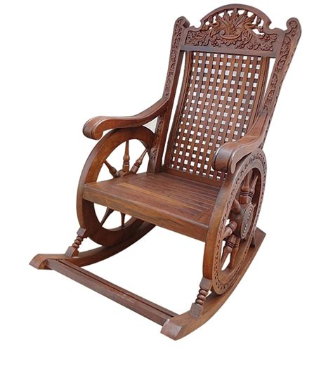 buy rocking chair chariot by saaga rocking chairs rocking chairs pepperfry