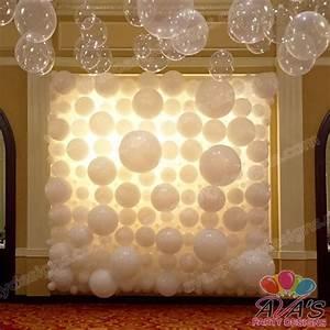 Elegant wedding balloon wall backdrop