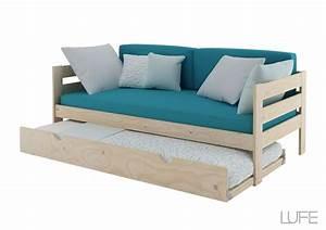 Comprar Cama nido con Sofa de 1,90 m o 2 m de madera ecológica