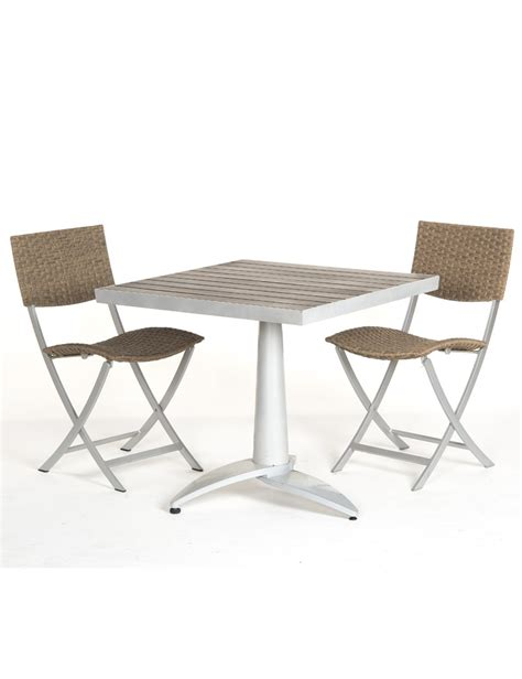 vente privee chaise table terrasse 70x70 2 chaises pliantes les jardins