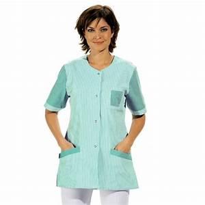 Cote De Travail Femme : blouse tunique travail femme manche courte ray couleur blanc ~ Dailycaller-alerts.com Idées de Décoration