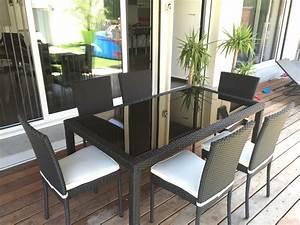 Salon Exterieur Design : table exterieur jardin table et chaise de jardin en bois pas cher reference maison ~ Teatrodelosmanantiales.com Idées de Décoration