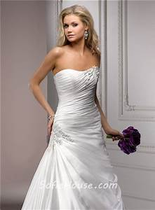 fitted a line strapless corset back ruched organza wedding With strapless fitted wedding dresses