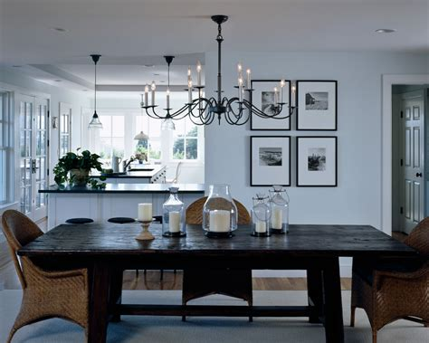 bright hubbardton forge  dining room rustic  rustic