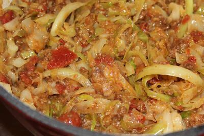 smothered cabbage  sausage  tomato deep south