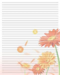 Printable Lined Writing Paper