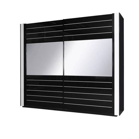 chambre a coucher design pas cher armoire lina noir et blanche laquée tout équipée meuble