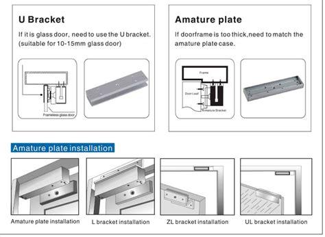zl type magnetic lock bracket for inward door buy zl magnetic lock bracket bracket for inward