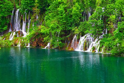 Lake Jungle Waterfall Landscape Wallpapers Hd Desktop And Mobile Backgrounds
