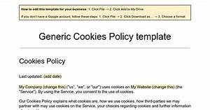 generic cookies policy template google docs With cookie policy template