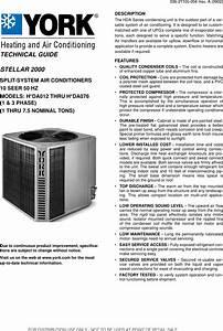 York Stellar 2000 H Da012 Users Manual