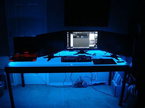 desk with led lights computer desk led lighting using an easy installation led