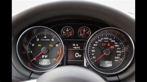 audi tt coupe  tfsi hp acceleration speedometer
