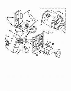 Admiral 29 U0026quot  Electric Dryer Parts