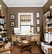 home office colors dens/libraries/offices - Brown, Neutral, Home Office, aupe paint, taupe paint colors, taupe ...